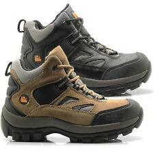 MENS LEATHER WALKLANDER SAFETY BOOTS STEEL TOE CAP BOOTS WORK TRAINERS SHOES SZE