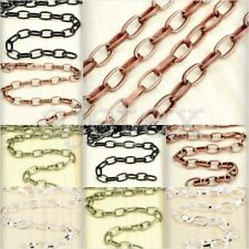 4m/2m Wholesale Unfinished Oval Cable Chains 6.8x4.1x1.2mm 8.6x5x1.3mm Choose