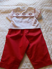 ROSALINA 2 PIECE CHRISTMAS SET  12 MONTHS