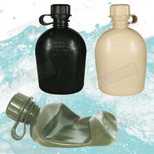 1 QT HEAVY DUTY PLASTIC COLLAPSIBLE 3-PIECE CANTEEN - USA Made, 1 Liter (Quart)