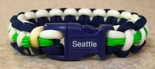 SEATTLE SEAHAWKS~NFL~Stylish 3 Color Thin 550 Paracord Bracelet~Wilson~Lynch