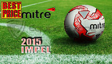 NEW 2015 MITRE IMPEL WHITE/RED/BLACK TRAINING FOOTBALL SIZE 3,4,5(32 PANEL BALL)