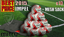 10 x NEW MITRE IMPEL WHITE/RED TRAINING FOOTBALL SIZE 3,4,5 (32 PANEL BALL)