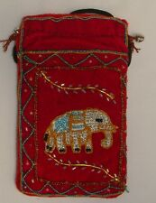 Elephant Mobile phone or Reading Glasses Purse with strap Handmade New!!