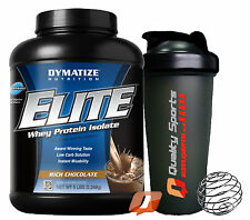 DYMATIZE ELITE WHEY PROTEIN ISOLATE 2.27KG / 5LB GAIN MUSCLE WHEY MASS + SHAKER