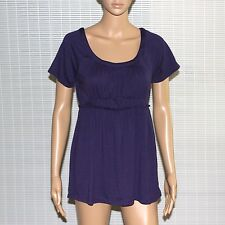 New $36 Petite Womens DAISY FUENTES Scoop-Neck Babydoll Top Blouse T-shirt Tee