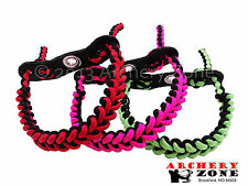 SHARK TOOTH Bow Paracord Wrist Sling Strap Leather over 20 colors 2 choose from