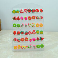 wholesale lot 24 pair Prevent allergic needle cute resin children's earring stud