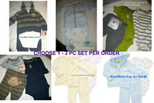 * NEW BOYS 3PC CARTERS BIG GUY Hooded Cardigan WINTER OUTFIT SET 3M 6M 12M 18M