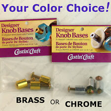 Castin'Craft CABINET KNOB BASES straight w/screws - Cast Your Own From Resin!