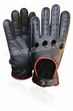 TOP QUALITY REAL SOFT LEATHER MENS DRIVING GLOVES  BLACK,BROWN