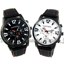 Military Army Pilot Style Mens Jelly Silicone Outdoor Sport Wrist Watch SF0