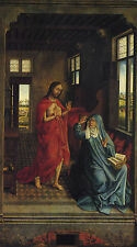 Christ appearing to the virgin by Weyden , Life of JESUS CHRIST Art on Canvas