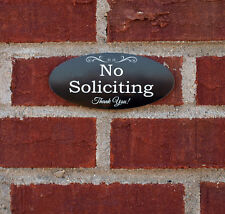 Engraved NO SOLICITING Thank You Home Door Plaque Sign - 25 colors