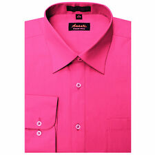 New Amanti Mens  Fushia  Hot pink  Wedding Formal Dress Shirt