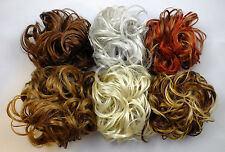 "Scrunchie LACEY 3.5"" Large Curly Hair Ponytail Holder Hairpiece COLORS 27 - R150"
