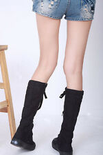 CHIC WOMENS Punk Canvas Sneakers Flat Platform Shoes Knee High Boots YSH-0119