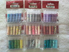 Glitter & Flitter Set Colour Choice: Red Blue Silver Gold White Pink Green Etc