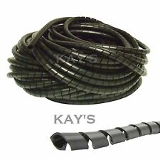 Spiral Cable Wrap/Tidy/Hide/Banding/Loom ~ PC,TV,Home Cinema,Wire Management