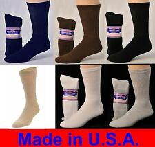 6 Pair Men's Women Physicians Choice Crew Cushioned Diabetic Socks Asst Sizes