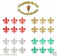 1inch GLITTER FLEUR DE LIS STICKER SELF ADHESIVE CARD MAKING TOPER EMBELLISHMENT