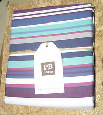 POTTERY BARN ~ DOLCE STRIPE DUVET PLUM ~ TWIN / FULL / QUEEN ~ BEDDING ~ PBTEEN