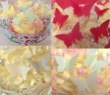 Edible Wafer  Butterflies - Small Butterflys Cake Decorations All Colours