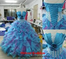 Strapless Quinceanera Dress Wedding Prom Formal party Ball Gown Pageant Dresses
