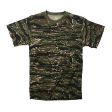 Rothco Mens Camouflage T-Shirt, Tiger Stripe Camo