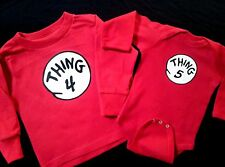 Dr. Seuss THING one 1 THING 2 two SHIRTS ALL SIZES ON SALE youth adult infant