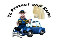 Custom Made T Shirt Police Humor To Protect Serve Pig Donuts Policeman Funny