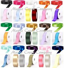 """100yds Double Face Polyester Satin Ribbon 1/4""""x100yd ANY COLOR Finished Edge"""