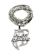 "NEW RUFF RYDERS 'R' HIP HOP PENDANT & 5mm/24"" FIGARO CHAIN NECKLACE - MSP327"