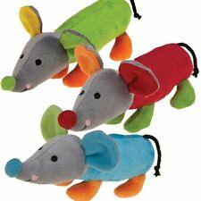 Dog Toy Cheddar Club Squeaker Soft Plush Puppies Mouse Shaped Bright Colorful