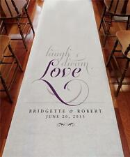 Laugh Dream Love Personalized Wedding Day Aisle Runner 2 Patterns 7 Colors 75'