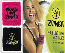 Zumba Fitness Fab Wide Silicone/Rubber Bracelets 2 PACK- 2 COLORS BLACK & PLUM