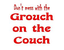 Custom Made T Shirt Don't Mess With Grouch On Couch Hilarious Funny Humor Grumpy
