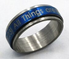 Spinner Ring Stainless Steel Mark 9:23 ALL THINGS ARE POSSIBLE IF YOU BELIEVE