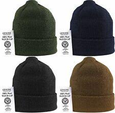Military 100% Wool Knitted Winter Hat Wool Watch Cap USA Made