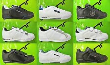 REEBOK Mens Trainers NPC Leather Velcro Lace-up New Ex-display White Black Sale
