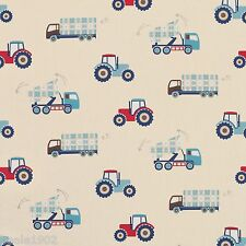 MADE TO MEASURE ROMAN BLIND IN LAURA ASHLEY TRUCKS AND TRACTORS FABRIC
