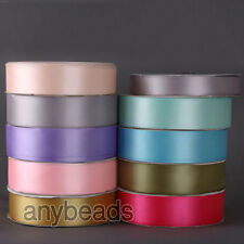 10 Yard 9.2M Polyester Ribbon Double Face DIY Wedding Bouquet Craft Sewing Decor