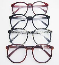 Oversized Vintage Black Red Brown Eyeglass Frames Spectacles Eyewear RX-able