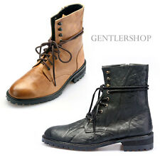 Mens Fashion Shoes High top Leather Boots Handmade 5061, GENTLERSHOP