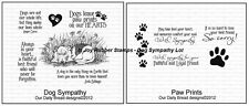 Our Daily Bread Designs Cling Stamp Sets Pet Sympathy Dog or Cat, Paw Prints