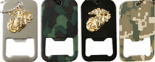 Dog Tag Bottle Openers Digital Camouflage Military Dog Tag Necklace Chain