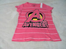 Avenger's Girls Tees S L and XL Pink With Avenger Logo On Front With Glitter