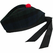 Black Watch Tartan/Plaid Scottish Glengarry/Kilt Hat 6 3/8(UK 52) - 7 3/4(UK 62)