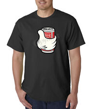 Mickey Mouse Hand Beer Alcohol Drinking Drunk illest 100% Cotton Tee Shirt