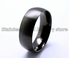 Mens Stainless Steel Ring Cool Fashion Classic Domed Frosted Multi US Size